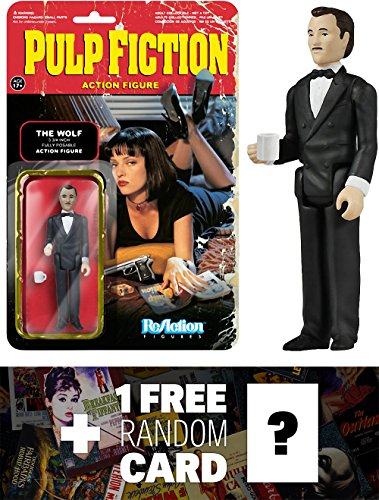 The Wolf: Funko ReAction x Pulp Fiction Action Figure + 1 FREE Classic Movie Trading Card Bundle (041533)