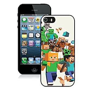 Minecraft(1) Black iPhone 5s Phone Case Genuine Custom Cover