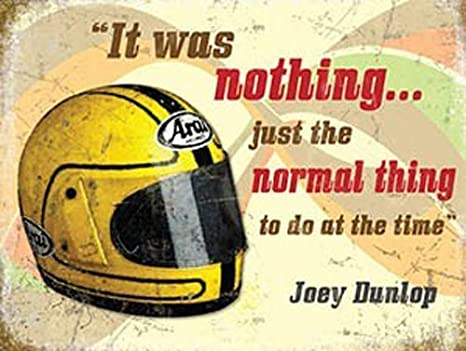 Joey Dunlop Casco, Moto Racing Cita, IOM TT Moto Metal/Cartel para Pared