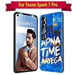 Nainz Designer Printed Soft Silicone Back Case Cover for Tecno Spark 7 Pro Back Cover for Tecno Spark 7 Pro-D066