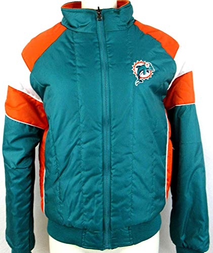 G-III Sports Womens Miami Dolphins Reversible Quilted Puffer Fleece Jacket with Embroidery, Size Small ADOL 125 S - Miami Dolphins Reversible Jacket