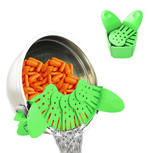 MYUS Kitchen Collapsible Colander Strainer Vegetable Snap Strain Strainer Fruit Foldable Clip-on Colander Fits All Pots and Bowls