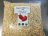 Whole Kernel White Corn 2 Pounds Dried, USDA Certified Organic, Non-GMO, Bulk