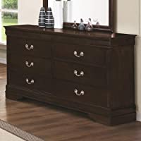 Coaster Home Furnishings 202413 Traditional Dresser, Cappuccino