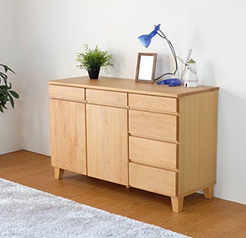 ISSEIKIサイドボード収納家具ナチュラル幅120飽きの来ないデザイン木製家具【BA-29-2】