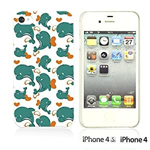 Cartoon Pattern Hard Back For SamSung Galaxy S6 Case CoverBlue Dolphin