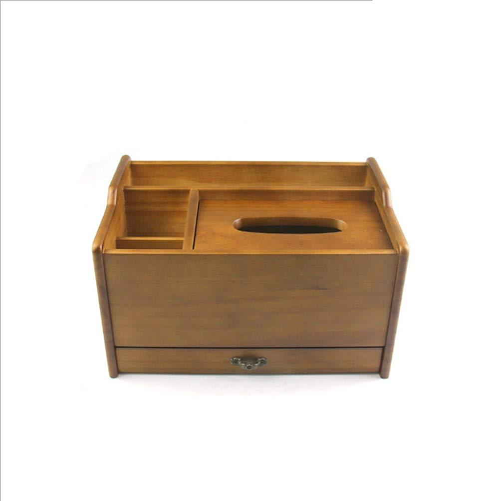 ウッドは紙箱を描くために引き出しを絶妙に装備しています。 (Color : ブラウン) B07MSDSXG3 ブラウン
