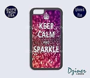 iPhone 6 Plus Case - Keep Calm Sparkle Print iPhone Cover