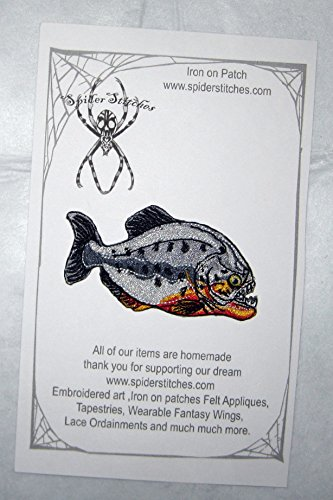 Red Belly Piranha Fish Iron on Patch