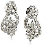 14k White Gold Cluster Stud Earrings (1/4cttw, I-J Color, I2-I3 Clarity)