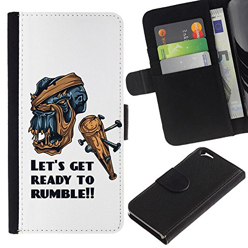 EuroCase - Apple Iphone 6 4.7 - Let's Get Ready To Rumble - Cuir PU Coverture Shell Armure Coque Coq Cas Etui Housse Case Cover
