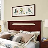 Full/Queen Headboard, Cherry, Sturdy Construction, Wood