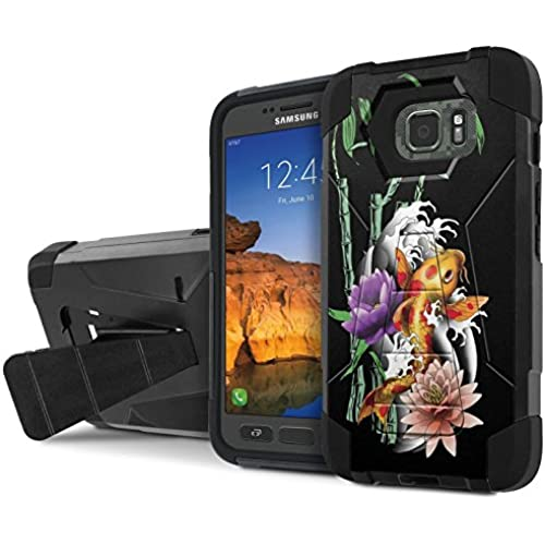 AT&T [Galaxy S7 Active] Armor Case [NakedShield] [Black/Black] Tough ShockProof [Kickstand] Phone Case - [Koi Sales