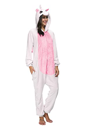 a7152bdf982f Amazon.com  Adult Pajamas Unisex Sleepsuit Animal Sleepwear Jumpsuit  Halloween Cosplay Costume  Clothing