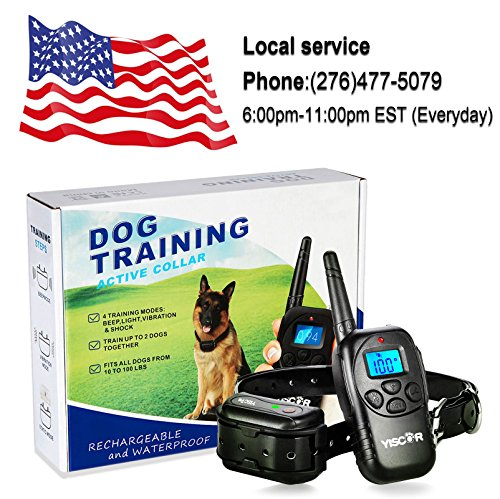 YISCOR-Bark-Collar-ShockVibrationBeep-Remote-330Yds-Waterproof-All-Size-Dogs-10-100-Pounds-Electric-Dog-Training-Collar-Anti-Barking-Collar-for-Dogs