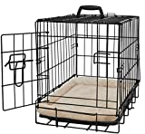 Pet Dog Cat Crate Kennel Cage and Bed Pad Cushion Warm Soft Cozy House Kit Playpen – 20″ Inches Review