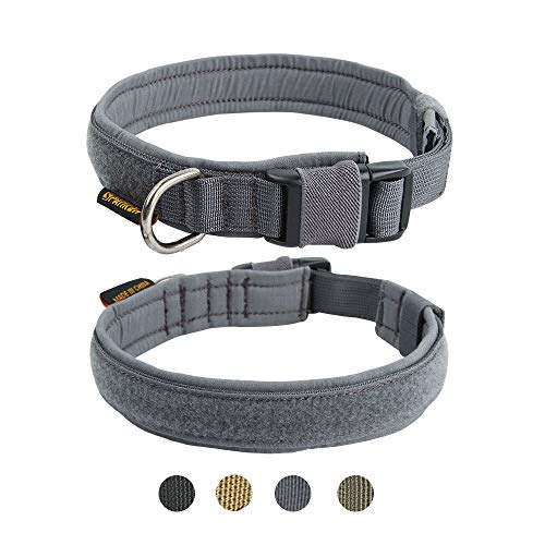 EXCELLENT ELITE SPANKER Puppy Collar Military Dog Collar Adjustable Quick Release Nylon Dog Collar for Small Medium Dog…