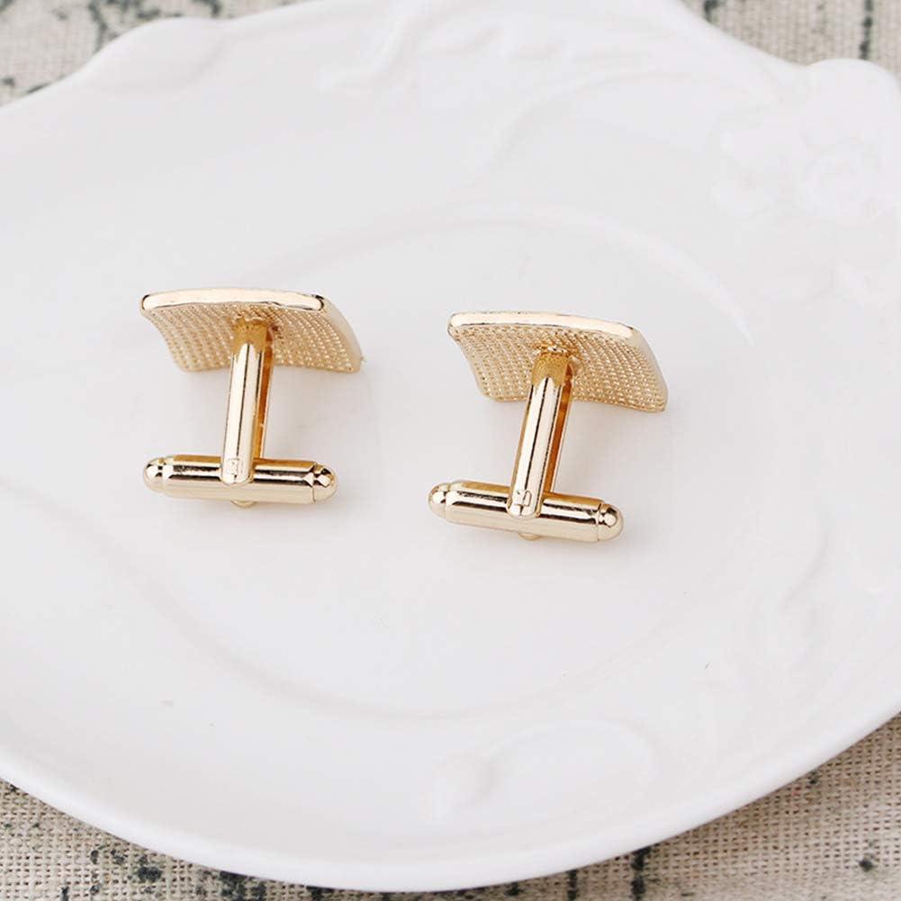 Qinlee 1 Paire Luxueux et /él/égant Boutons de Manchette Square en Cristal Chemise de Manchette pour Homme Femme 1.8 Type 189 1.8cm