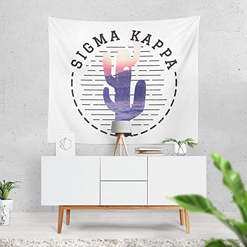Sigma Kappa Sorority Water Color Cactus Dorm Apartment Wall Tapestry 60 Inches x 80 Inches Sig Kap