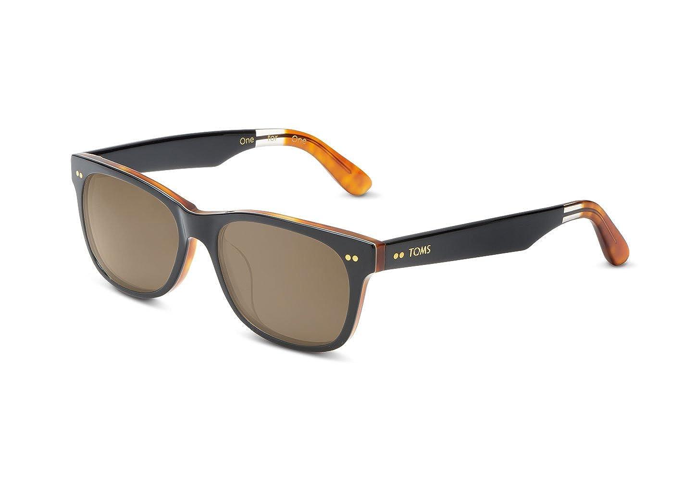 d4dca3ba449 Amazon.com  TOMS Sunglasses BEACHMASTER 301 Polarized w  ZEISS Lens (Matte  Black Honey   Polarized Brown