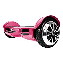 SWAGTRON T380 Hoverboard - Bluetooth Speaker & Lights, Personalize Experience w/Android/iOS App (Pink)