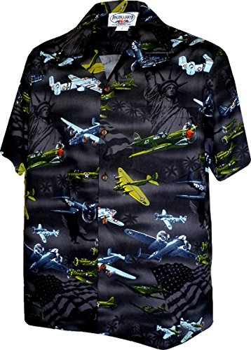 USA Fighter Planes Mens Cotton Shirt 410-3820 Black M 410-3820