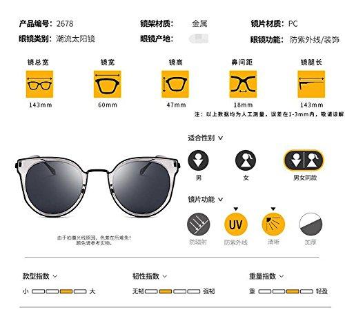 lunettes inspirées Violet cercle polarisées métallique soleil Lennon style en Bleu rond de retro du vintage rqt4Frx