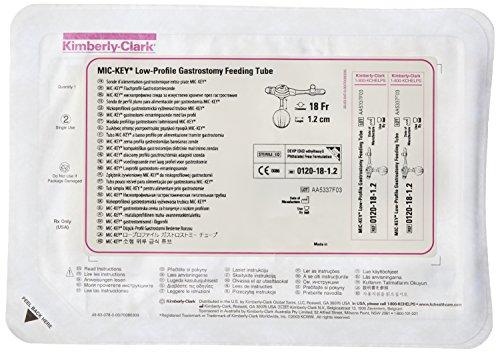Halyard Health 0120-18-1.2 MIC-Key Gastrostomy Feeding Tube, Low Profile, Sterile, 18 Fr Outer Diameter, 1.2 cm Stoma Length, Silicone by Halyard Health