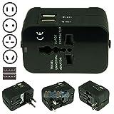 AU/UK/US/EU Universal Travel AC Power Charger Adapter Plug Converter w/ Dual USB