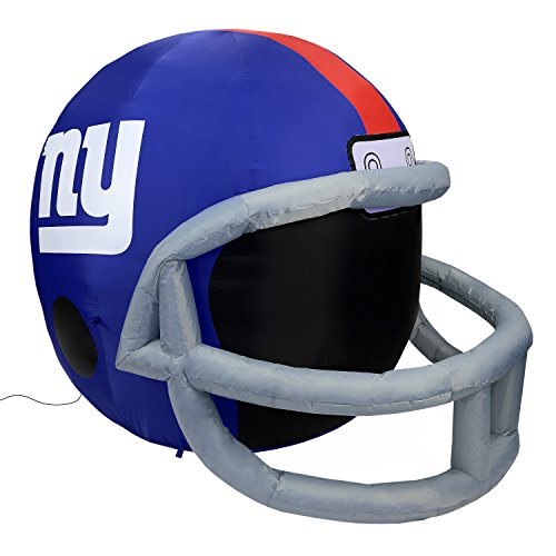 NFL New York Giants Team Inflatable Lawn Helmet, Blue, One Size - Sports New York Giants Inflatable