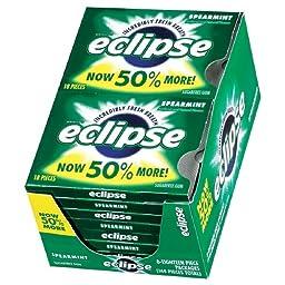 Eclipse Sugar Free Gum, Spearmint-8 pk