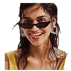 Quartly Ladies Fashion Cat Eye Sunglasses Women Vintage Small Frame Retro Sunglasses Uv400 Eyewear Glasses Black