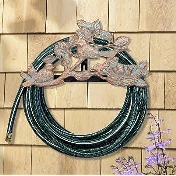 Amazon Com Metal Garden Hose Holder Won T Rust Wrought Iron Look