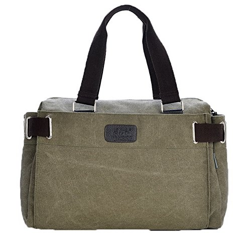 Agoolar Women Work Satchel-style Canvas Bags Cross Shoulder Bags, Green Gmxbb181183