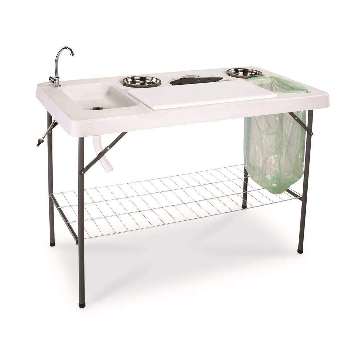 Guide Gear Deluxe Fish//Game Processing Table with Faucet and Accessories
