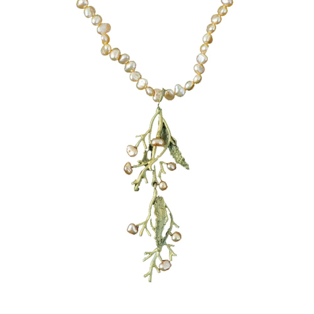 ''Seaweed'' Pearl Drop Necklace by Michael Michaud for Silver Seasons…