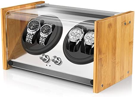 Bamboo Watch Winder for 4 Automatic Watches through Watch Winder Smith