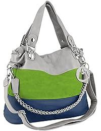 MAWAR Green / Blue / Gray Chic Hobo Style Shoulder Handbag / Purse