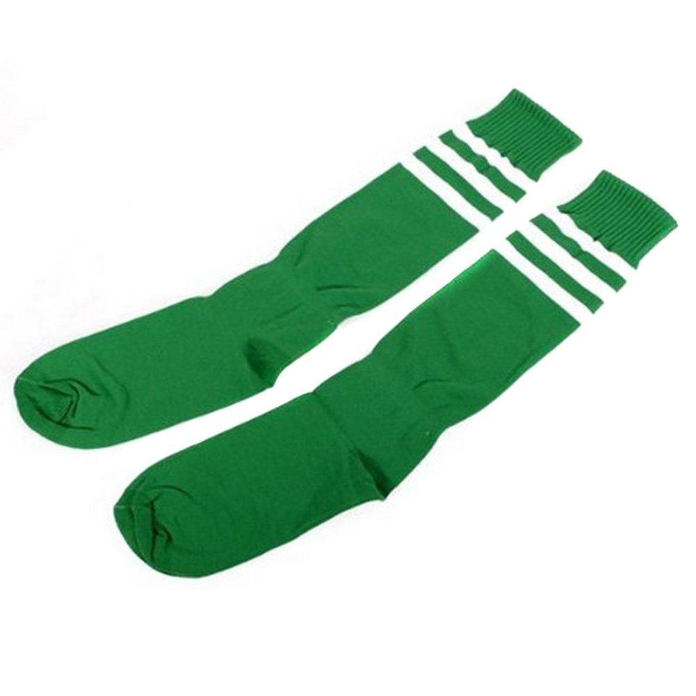 Sealikeクラシックストライプ高膝Football Soccerチューブソックス B00OLPIBII グリーン グリーン