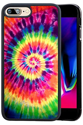 Ademen iPhone 8 Plus 5.5 inch Case, Tie Dye Design Hard PC Soft Silicone Protective Durable Shockproof Case For iPhone 8 Plus 5.5