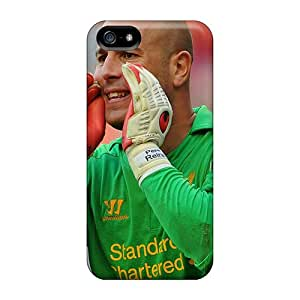 New Snap-on Skin Cases Covers Compatible With Iphone 5/5s- The Football Player Of Napoli Pepe Reina Is Shouting