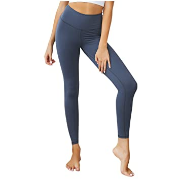 Baiomawzh Pantalones Yoga Mujeres Leggings Largos Color ...