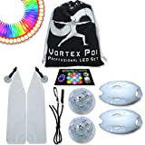 UltraPoi – Vortex Poi - LED Poi Set - Best Light Up Glow Poi - Flow Rave Dance - Spinning Light Toy