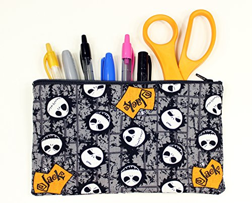 Nightmare Before Christmas Jack Skellington Fabric Pencil Case or Cosmetic Bag - 8