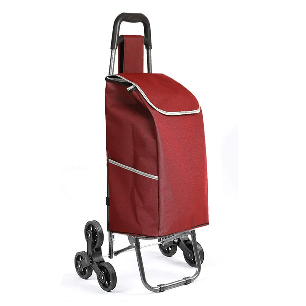 Color : B PANYFDD Fashion Folding Portable Home Trolley Trolley Large Capacity Easy to disassemble Shopping Travel