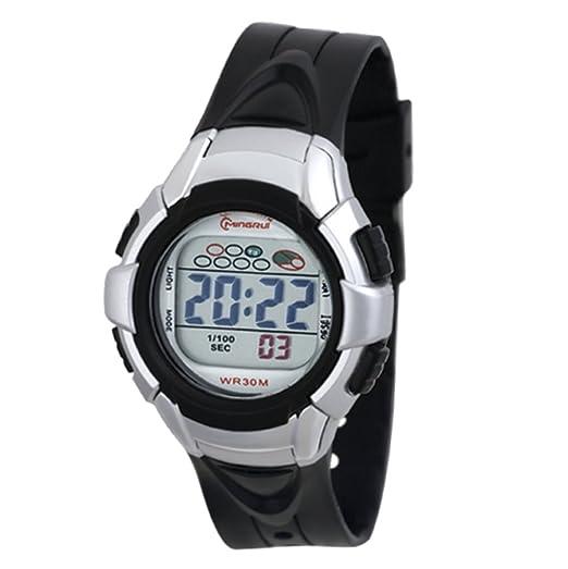 Reloj Concept - Reloj digital Mujer/Niño - Correa Plástico Negro - Esfera Redondo Fondo Gris - Marque Mingrui - mr8512-noir: Amazon.es: Relojes