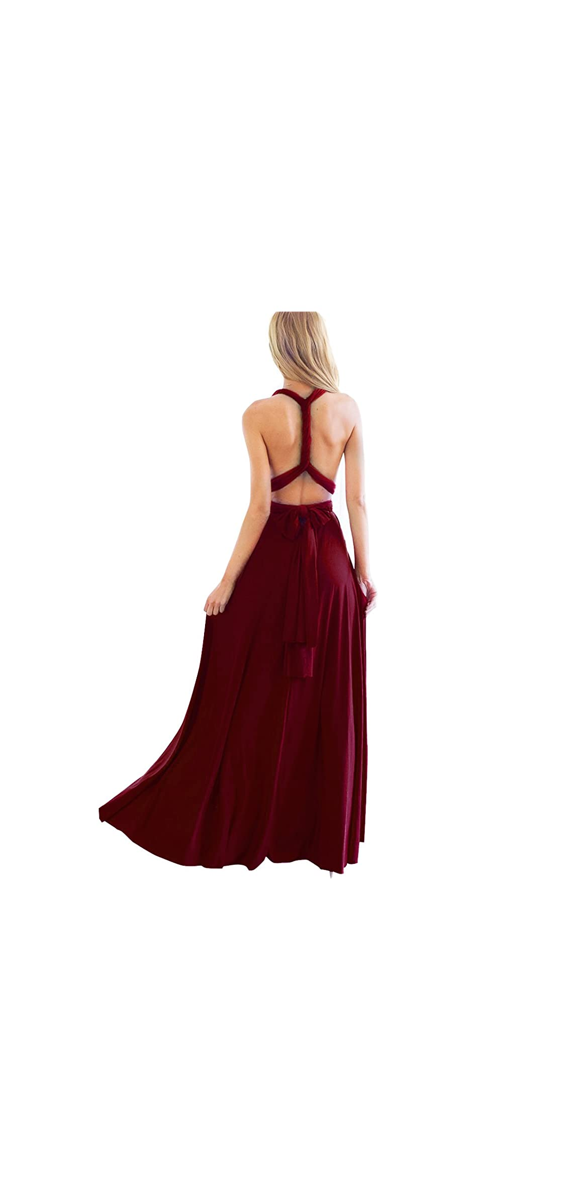 Women Transformer Convertible Bridesmaid Maxi Dress Multi-way