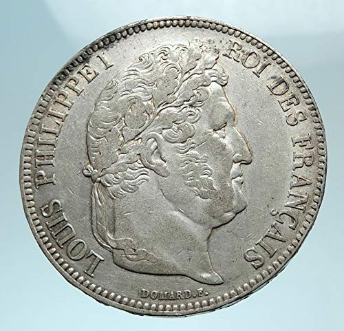 1834 FR 1834 FRANCE King Louis Philippe I French Antique coin Good Uncertified