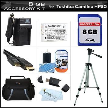 Amazon.com: 8 GB Kit de accesorios para videocámara Toshiba ...