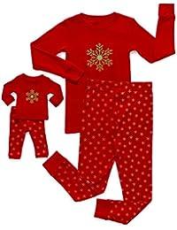 Kids & Toddler Pajamas Matching Doll & Girls Pajamas 100% Cotton Christmas Pjs Set (2-14 Years) Fits American...